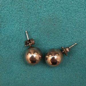 Tiffany sterling silver ball earrings